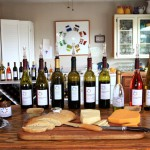 Wine and cheese platter at a Penman Springs tasting